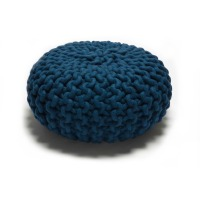 urchin pouf small .blue