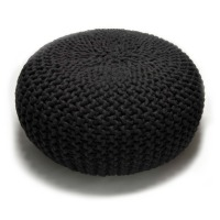 urchin pouf large .black