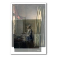 five layers of portraits of women by johannes vermeer - merit de jong for matter of material 2016