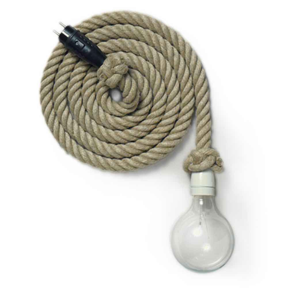 Flax light, Rope lamp by Christien Meindertsma, thomas Eyck.