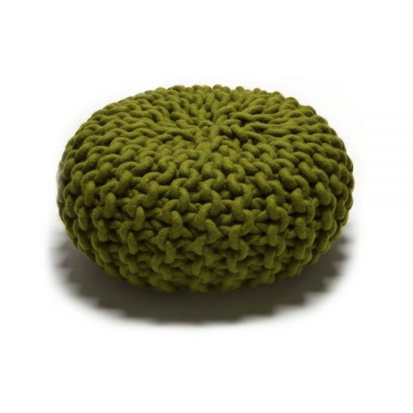 Urchin knitted pouf by Christien meindertsma, thomas Eyck.