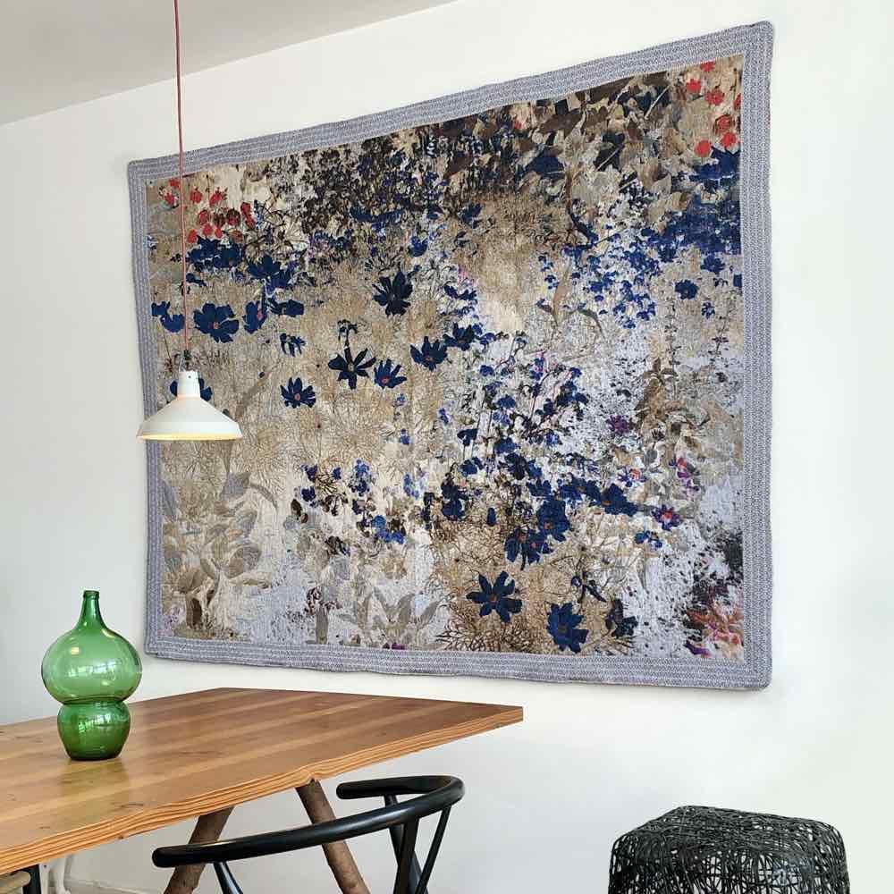 Prosperity Wallhanging by Irene van Vliet, close-upProsperity Wallhanging by Irene van Vliet, wall