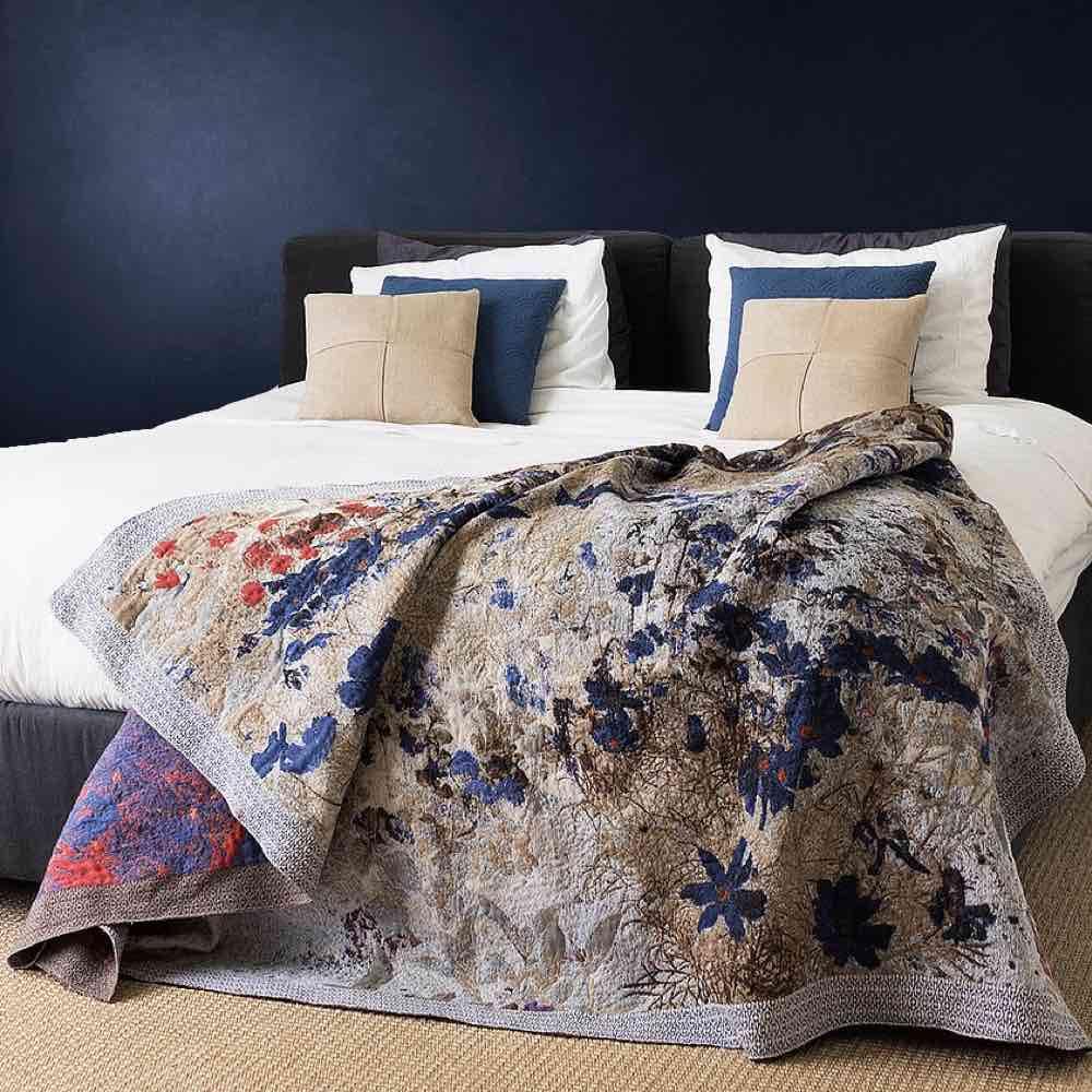 Prosperity plaid by Irene van Vliet, bed