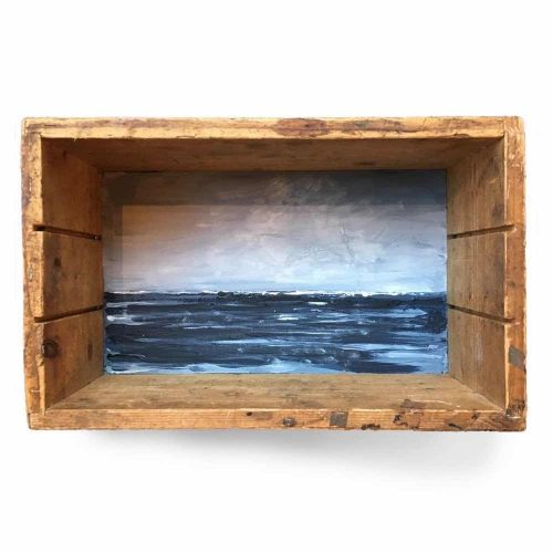 Seascape boxpainting by Esther van der Eerden, dutch sea painting.