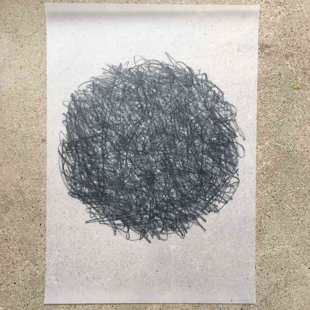 Graphite art print matter of material