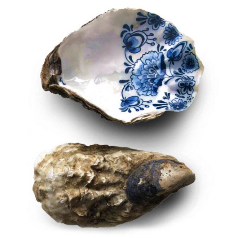 Handpainted oyster Zeeuwsblauw oester