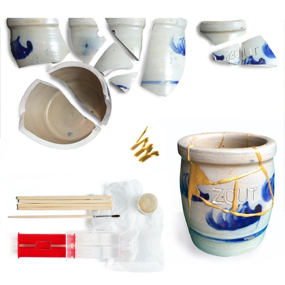 new-kintsugi-repair kit, Humade, Gold glue