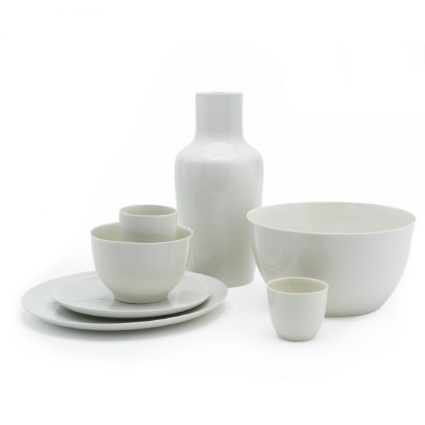 B-set white porcelain service by Hella Jongerius