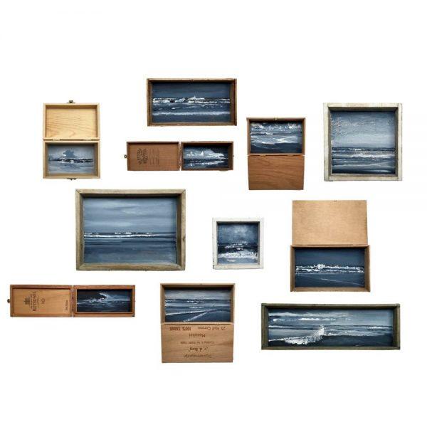 Seascape boxpainting by Esther van der Eerden, dutch sea painting.