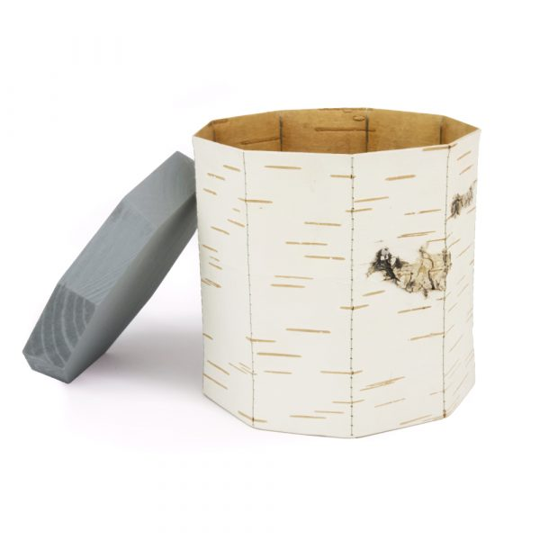 Moya Birch bark Food container by Anastasiya Koshcheeva, Tuesa