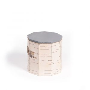 food container wide 2 grey