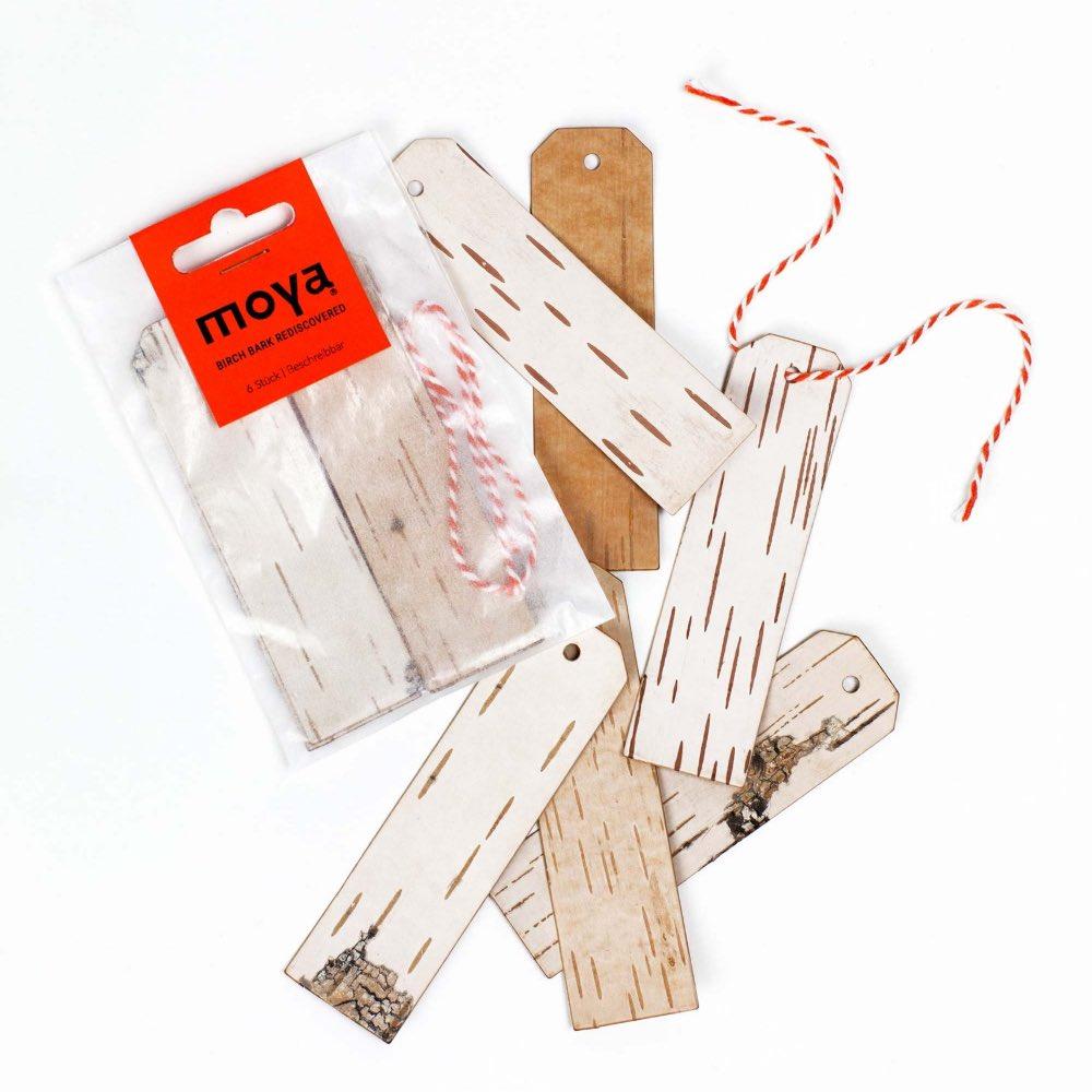 Moya Birch bark Gift tags long by Anastasiya Koshcheeva,