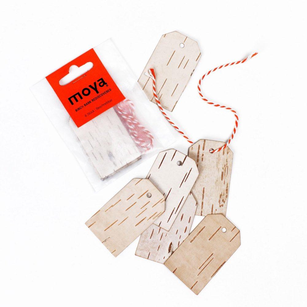 Moya Birch bark Gift tags short by Anastasiya Koshcheeva,