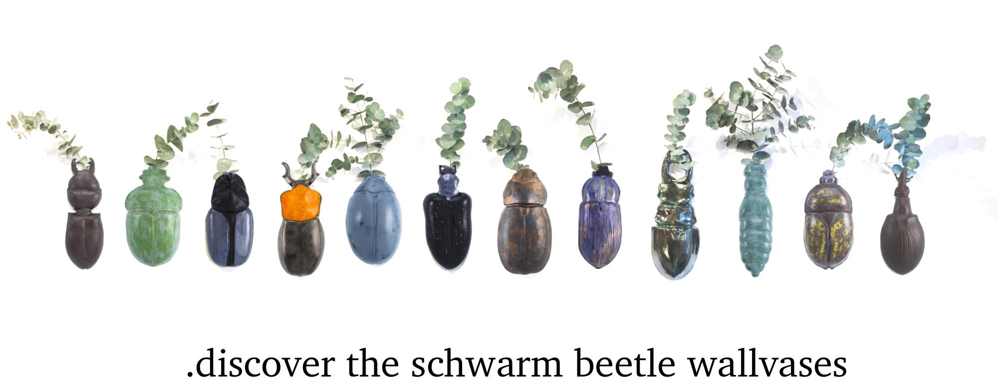 Schwarm beetles wallvases